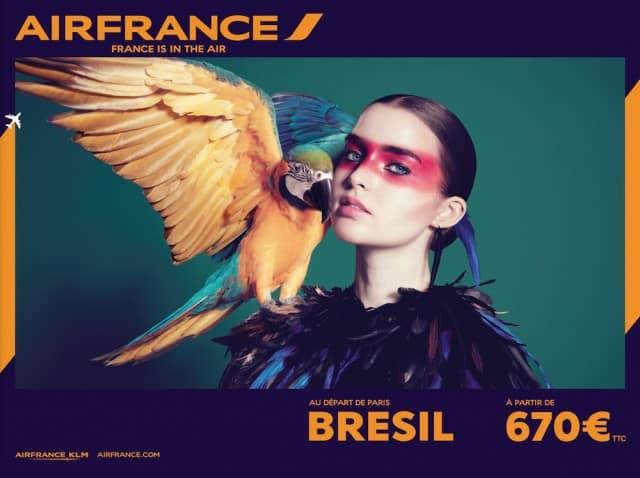 AirFrance graphisme bresil