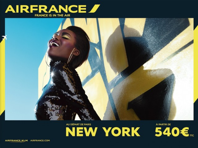 AirFrance graphique communication New York