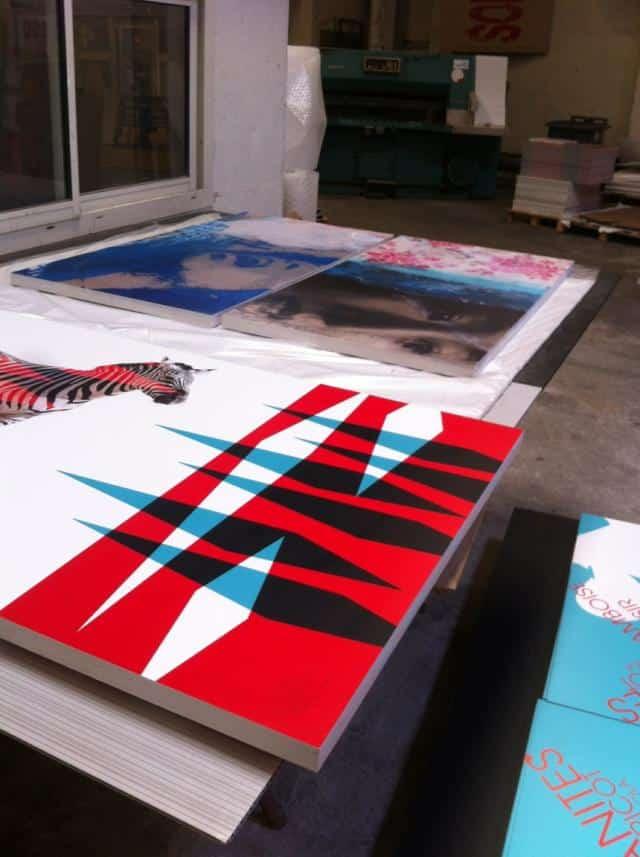 serie de toiles encore chez l'imprimeur