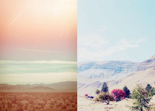 pastels et déserts d'Amérique