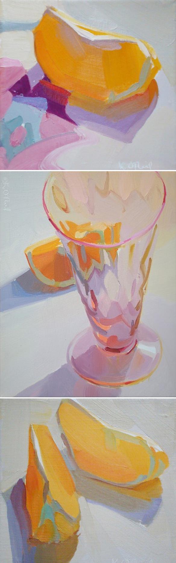 karen oneil peinture quartiers d'orange fraicheur