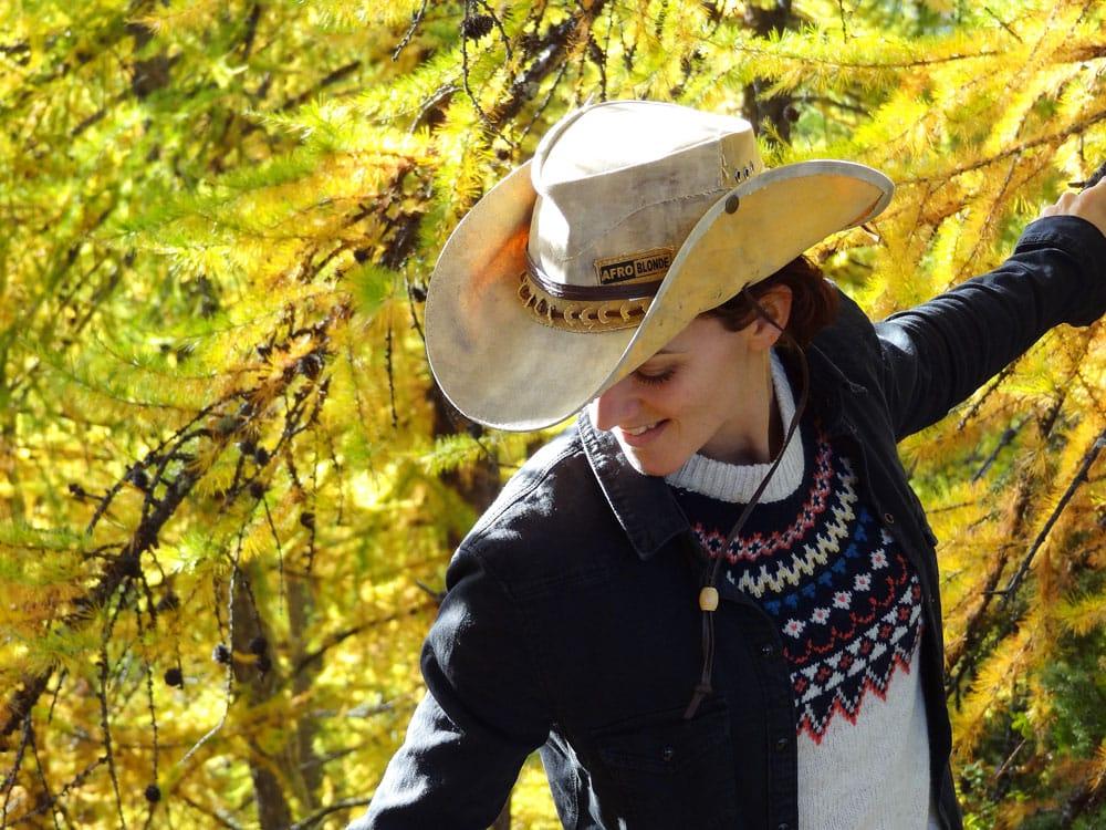 cowboy en automne jaune