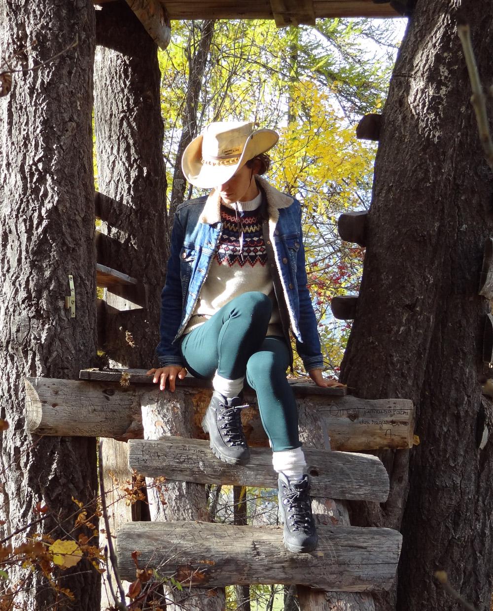 style cowboy zara et sud express, chapeau