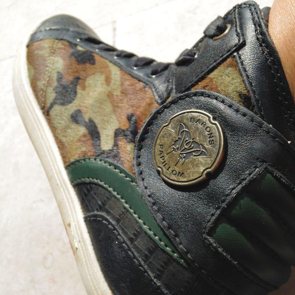 french sneakers Barons Papillom kaki et camouflage sur leblogcashpistache