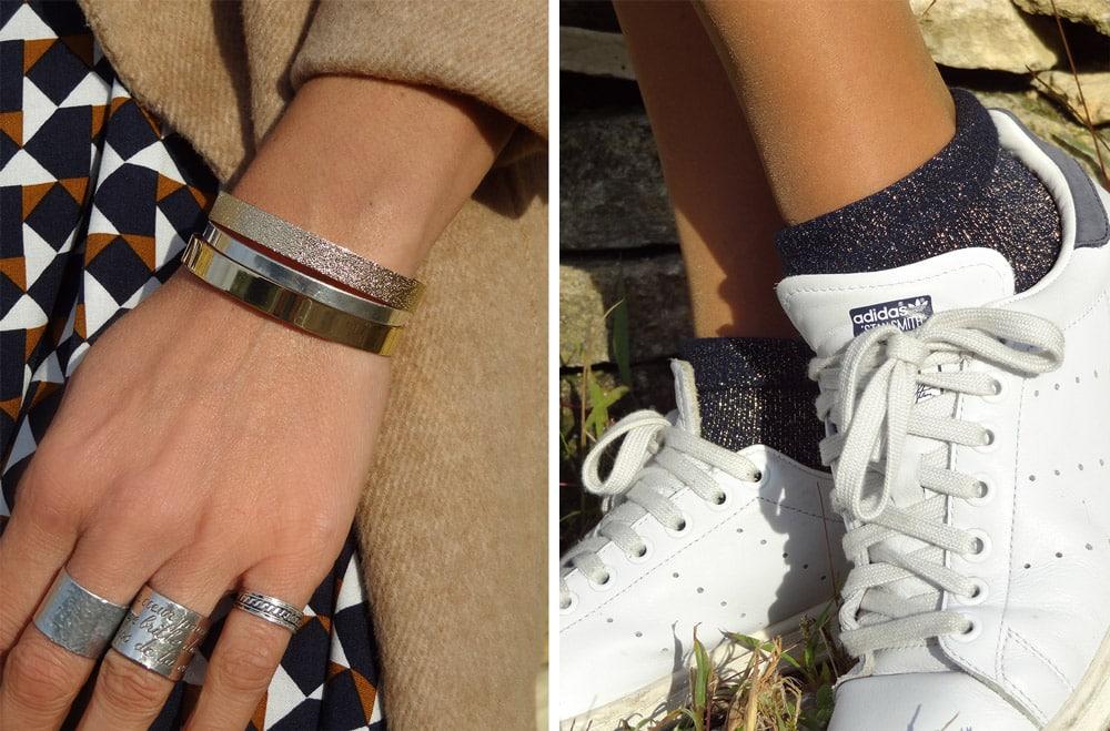 bracelets myabay et stansmith grises