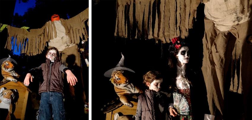 catrina et zombie devant pumpkinman
