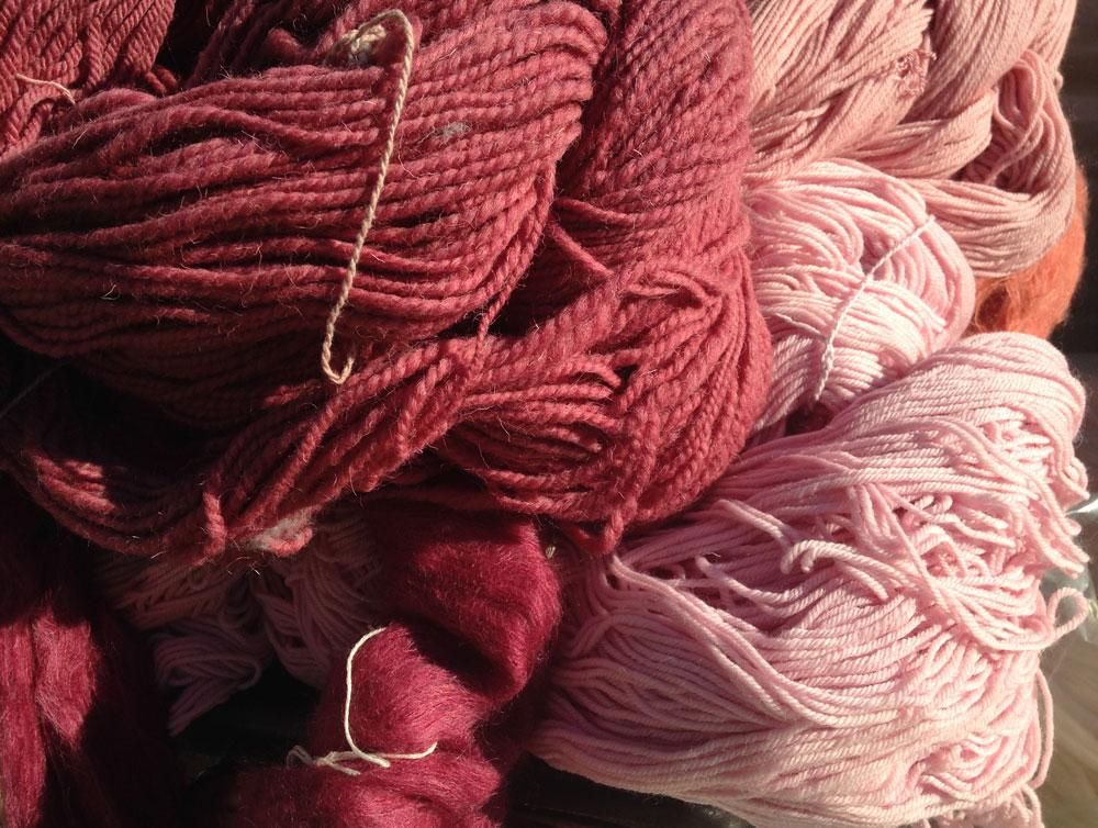 laines couleurs végétales couleur garance