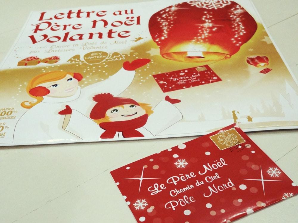 skylantern lettre au Père Noël