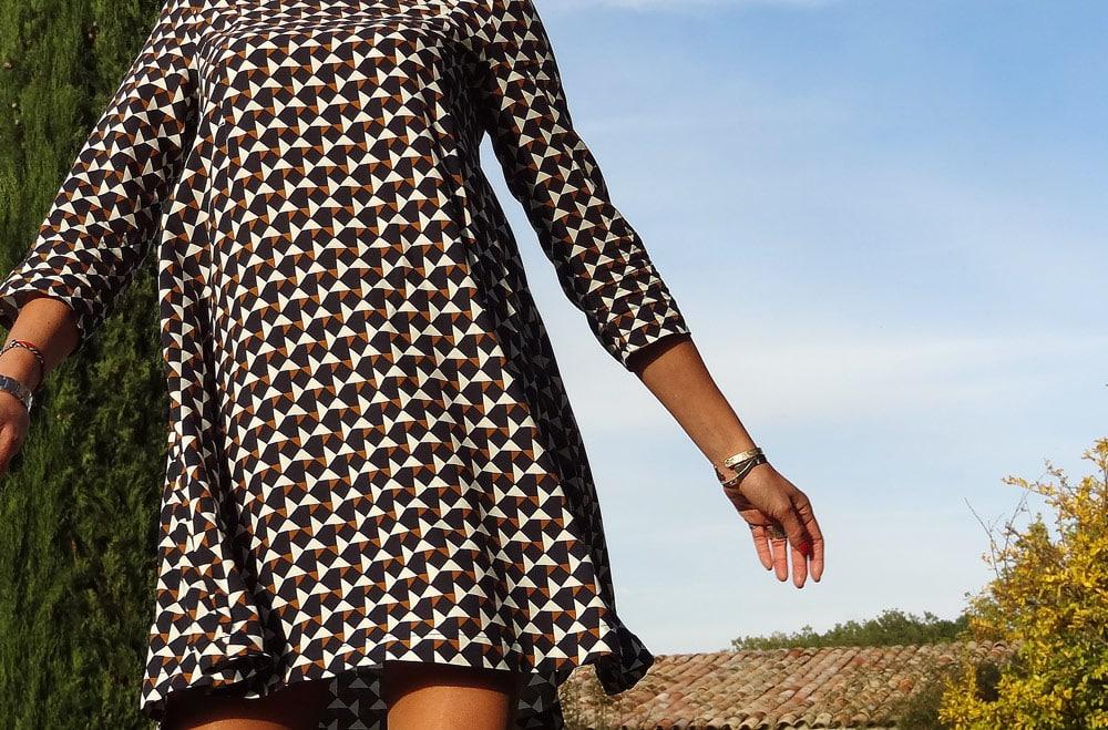 robe à motifs géométriques hm