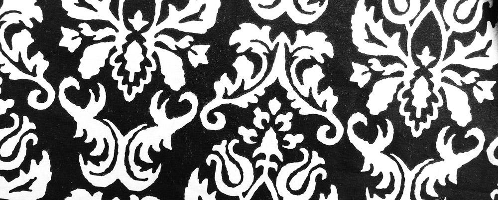 reveillon de noel diy motif serviette baroque chic