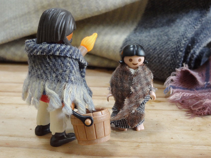 diy creche de noel vetements playmobil handmade