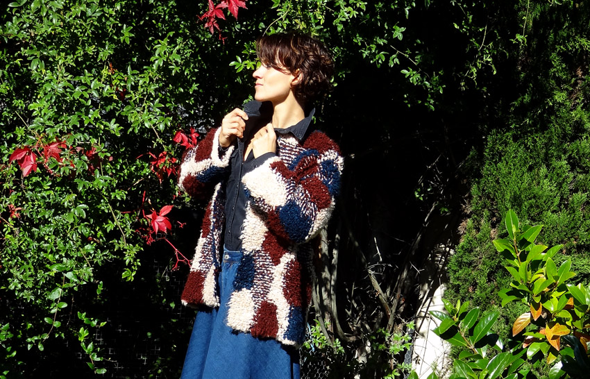 look patchwork de laine pullandbear