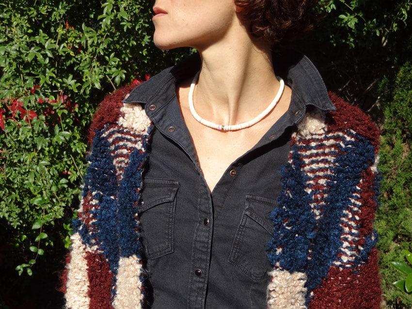 look patchwork de laine ras-de-cou