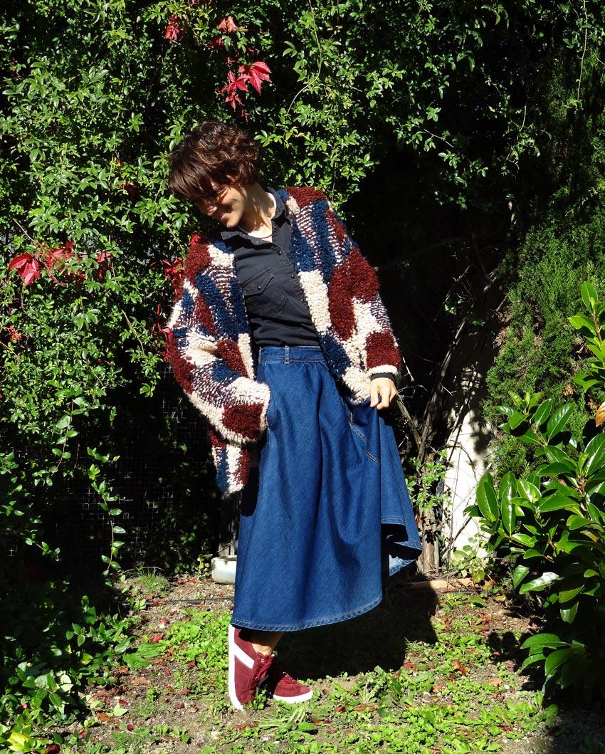 patchwork de laine pullandbear