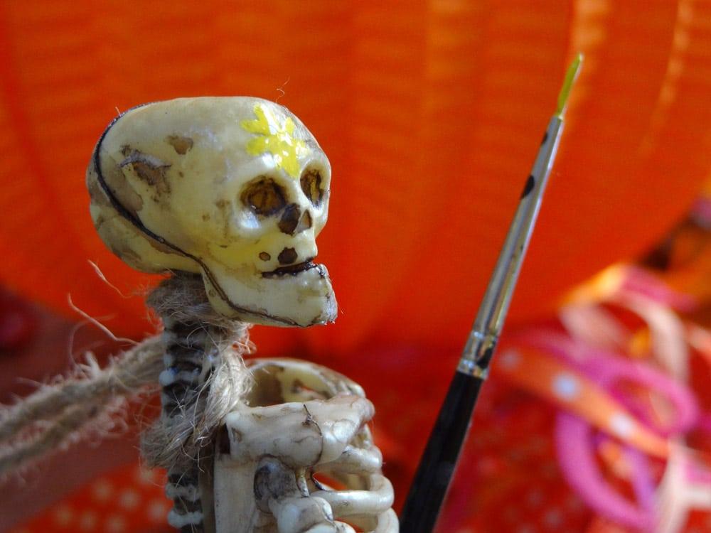 tuto squelette masque mortuaire