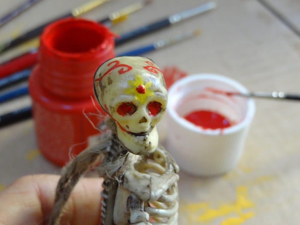 dia de los muertos peinture