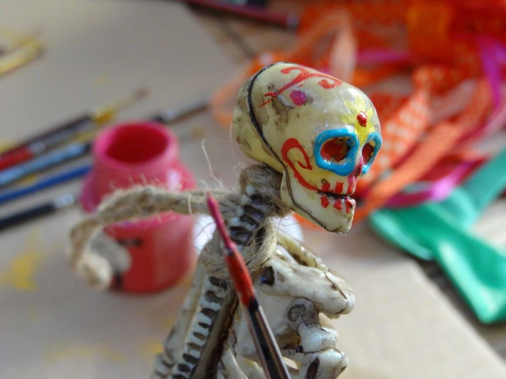 tuto diy squelette pour halloween