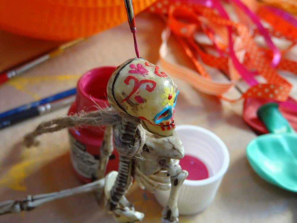 squelette tuto diy halloween dia de los muertos