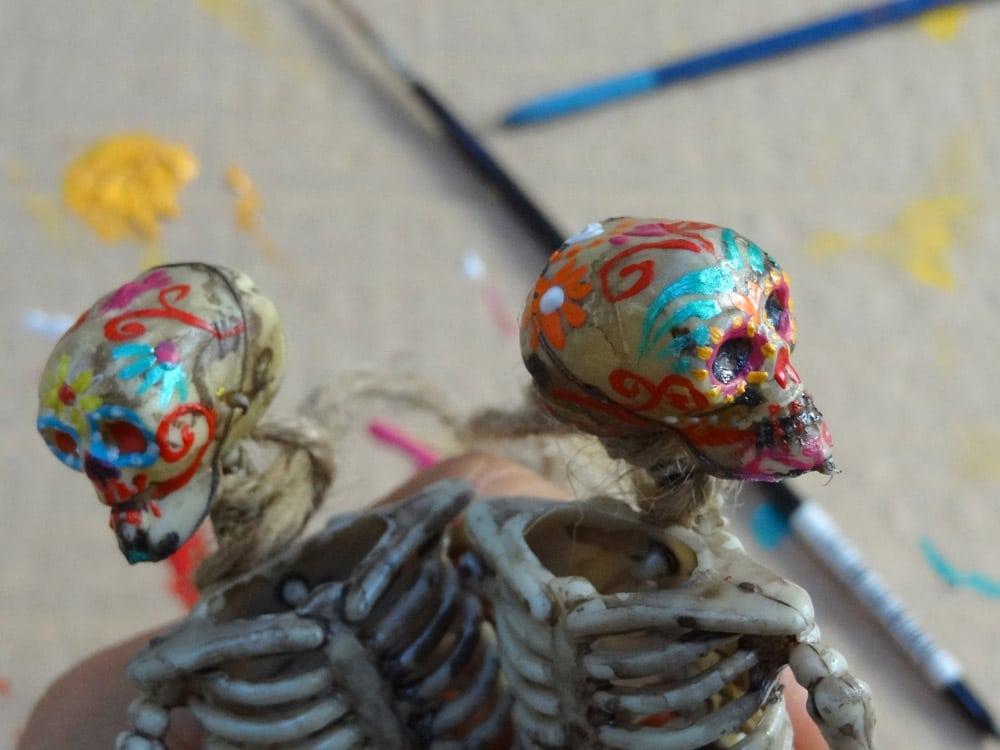 tuto diy squelette dia de los muertos halloween