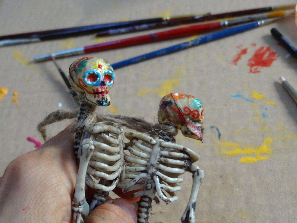 squelette halloween tuto diy