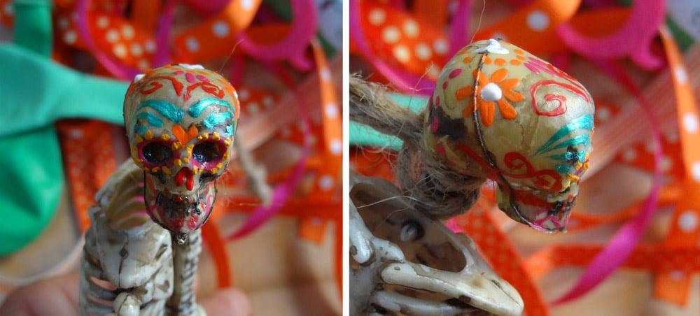 tuto diy squelette halloween dia de los muertos