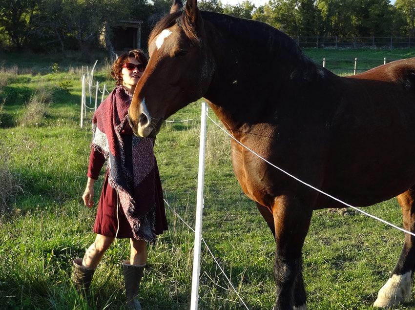 style gypsy mode robe et écharpe avec cheval