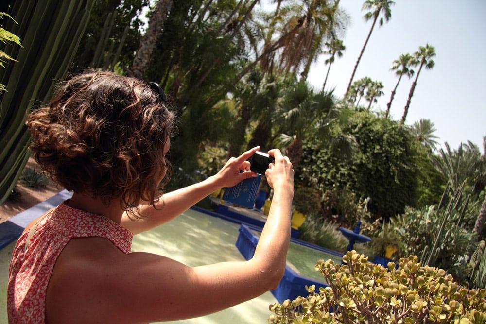 faire le jardin Majorelle à Marrakech majorelle guéliz maroc