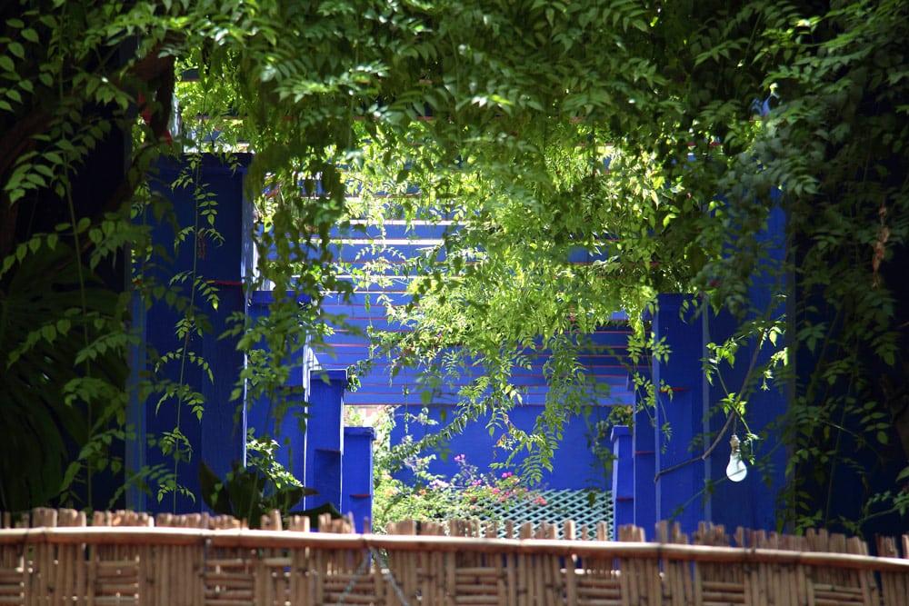 jardins Marrakech à voir quartier Guéliz bleu Majorelle peintre