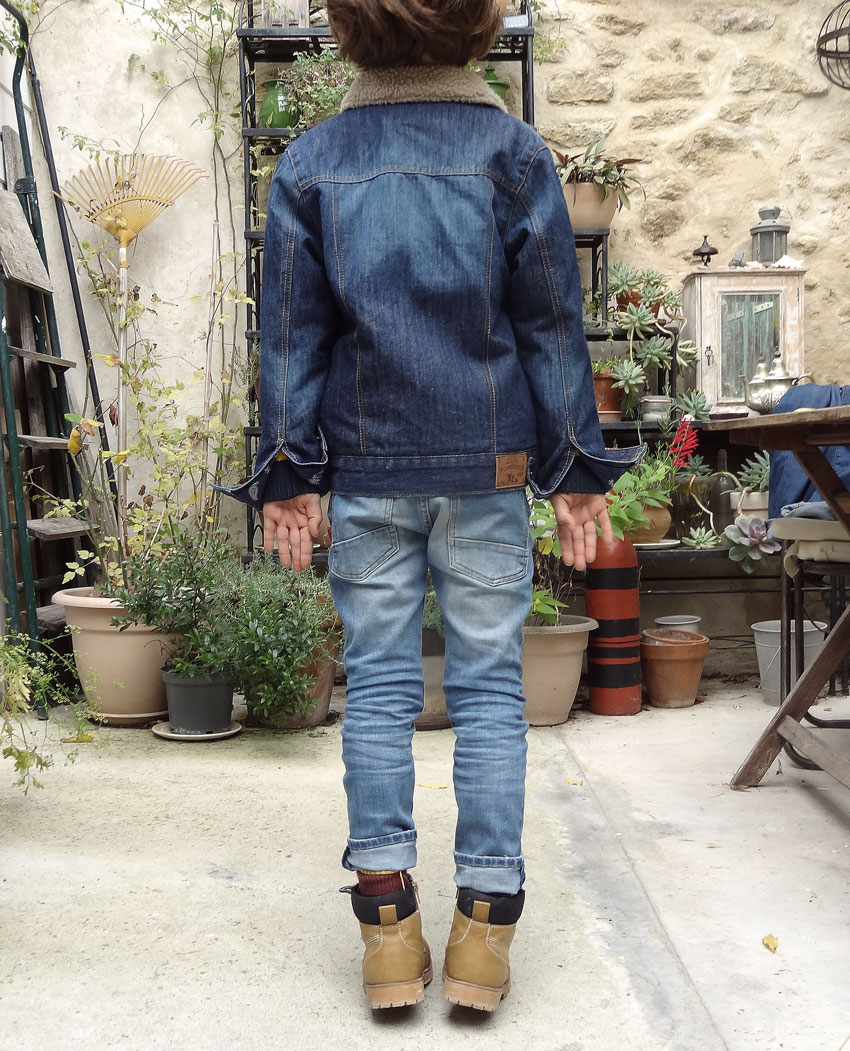 look enfant jeans total look jean