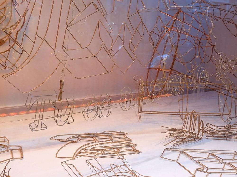 Le Bon Marche Ai Weiwei vitrines de la rue de Sèvres