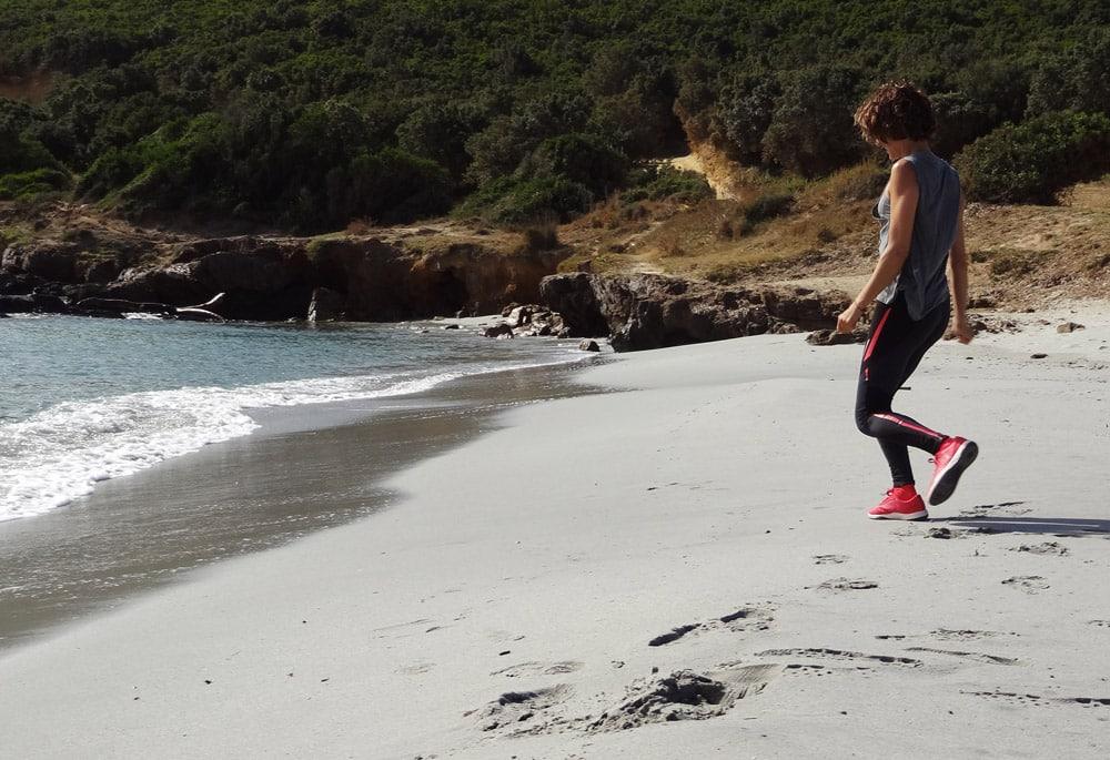 jogging sur la plage cross trails trail en bord de mer