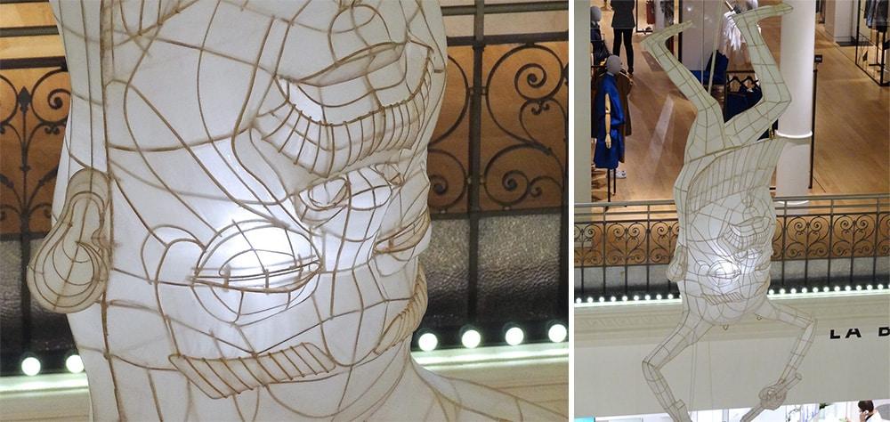 Le bon marché design avec son art à Paris