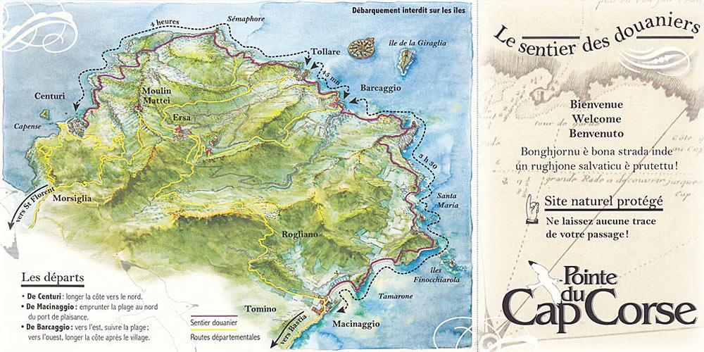 topo randonnée sentier des douaniers au Cap Corse