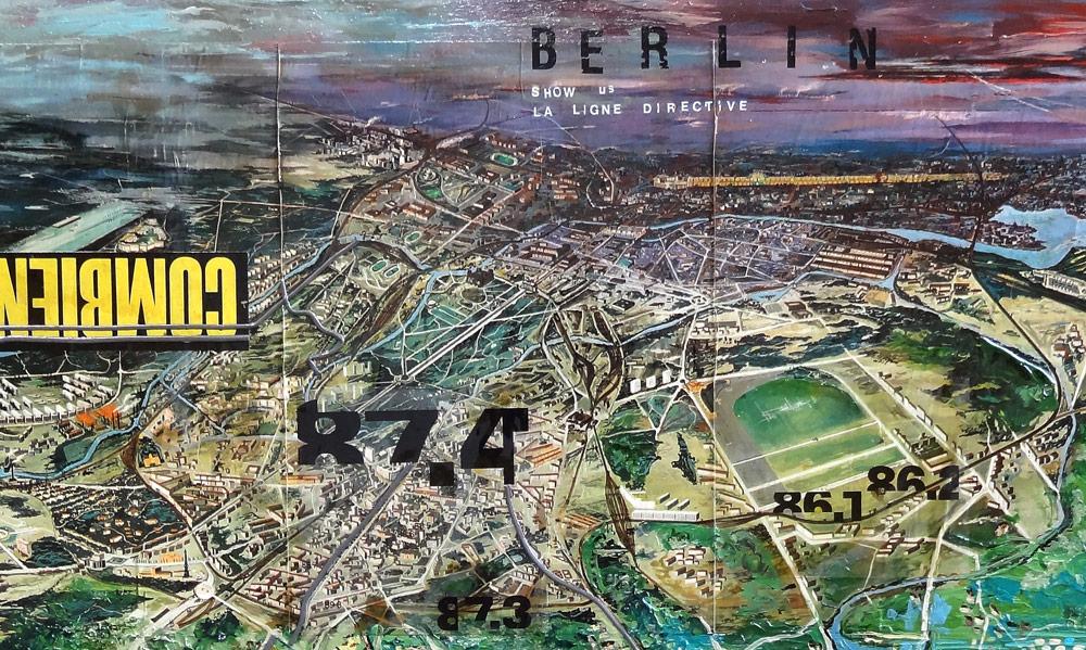 viedo painting d'une peinture de carte de Berlin artiste vmgraph