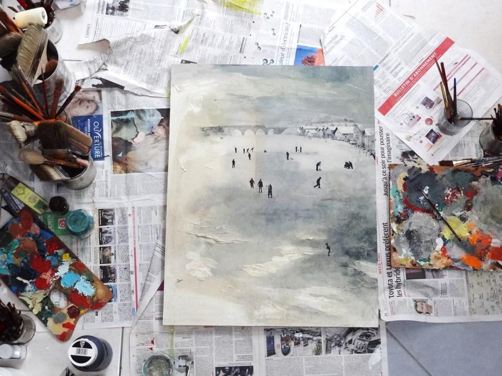 minimaliste peinture acrylique artiste aixoise
