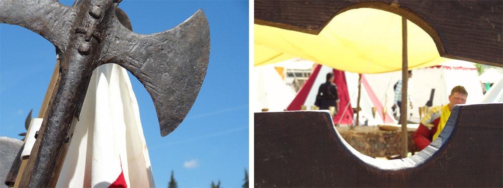 outils de tortures hache armes fete medievale