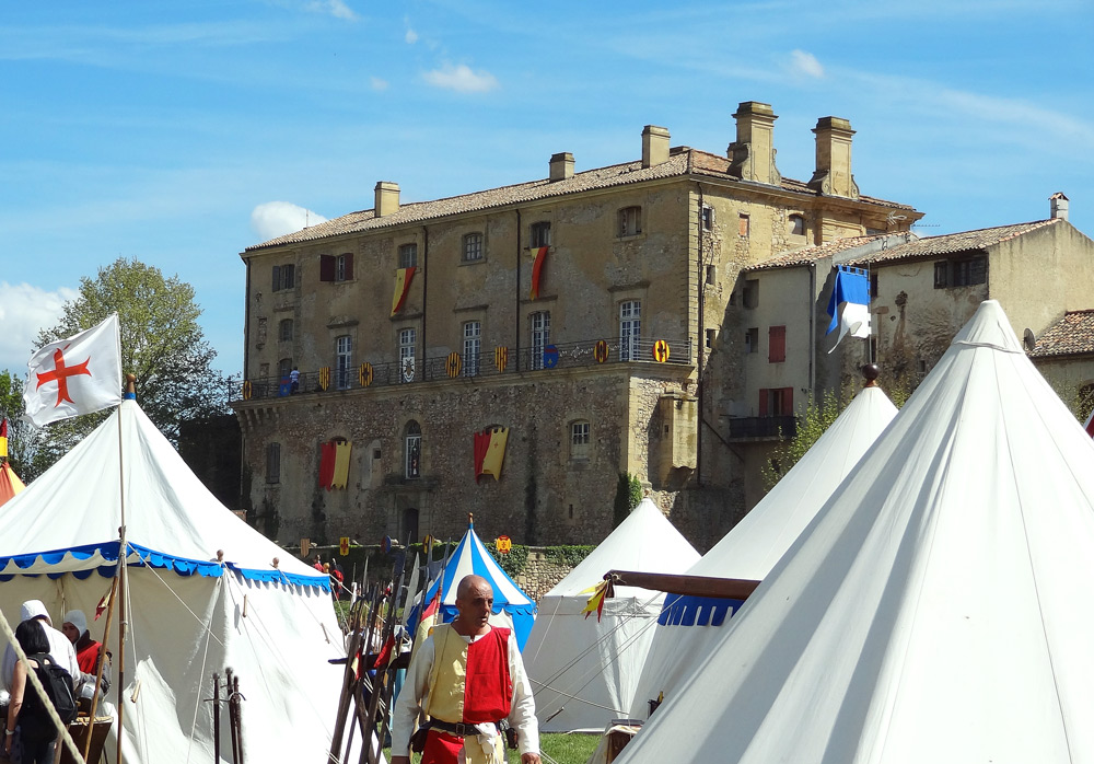 château de Peyrolles et campement médieval en Provence
