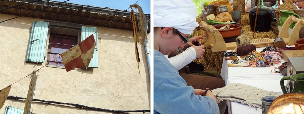 couturières tisserandes peyrolles en Provence fêtes