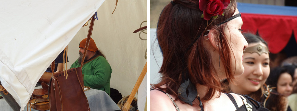 artisans danseuses foire au château de Peyrolles déguisés