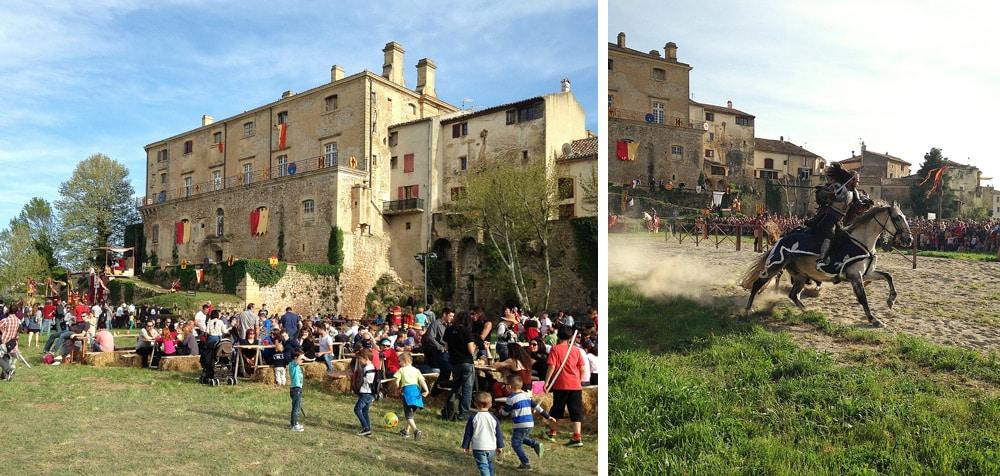 chateau de Peyrolles chevaliers pour fête médievale en Provence