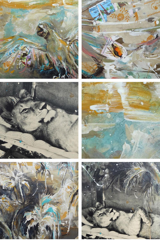 lionne adamson george et joy peinture elsa