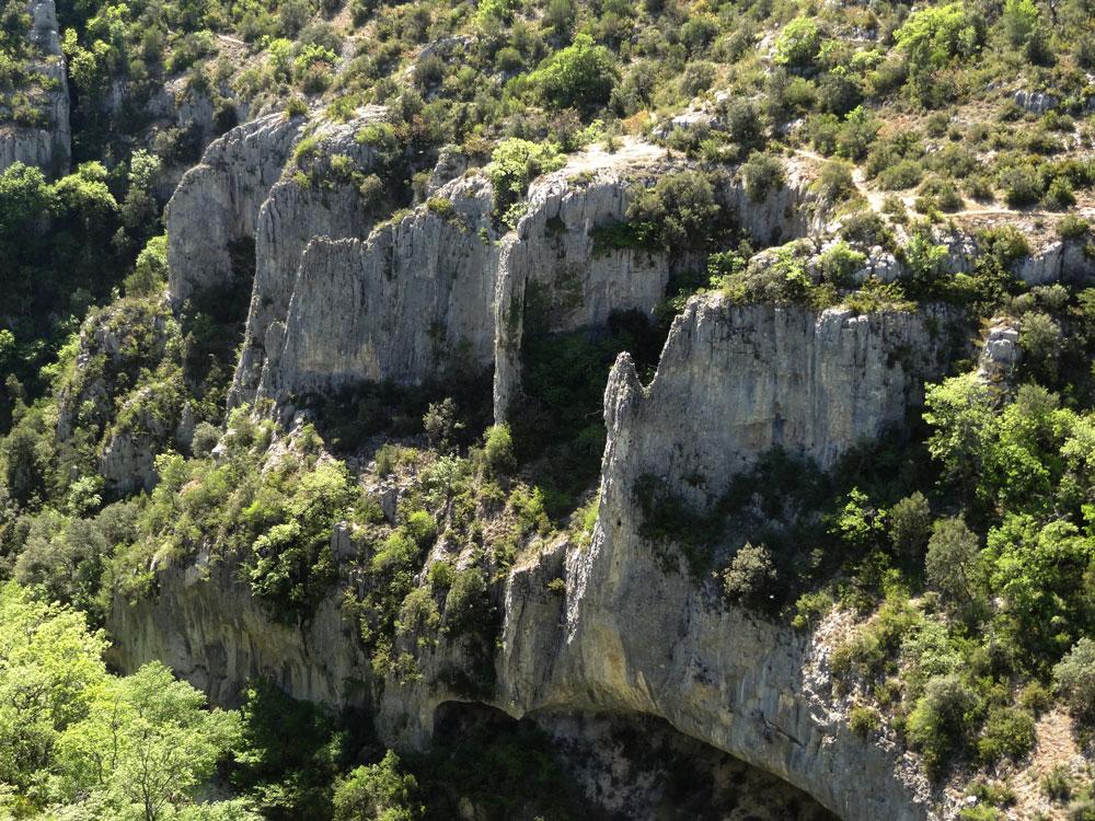 falaises gorges d'Oppedette