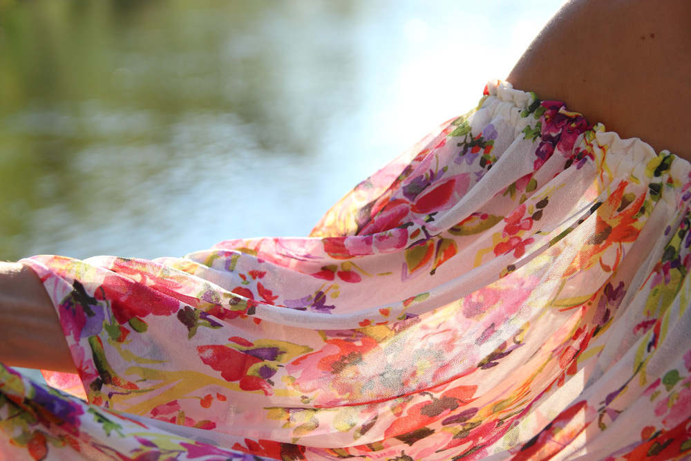 robe fleurie printemps transparences tissu