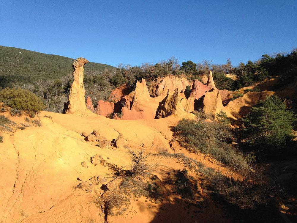 ocres et pigments de Rustrel Colorado Provencal