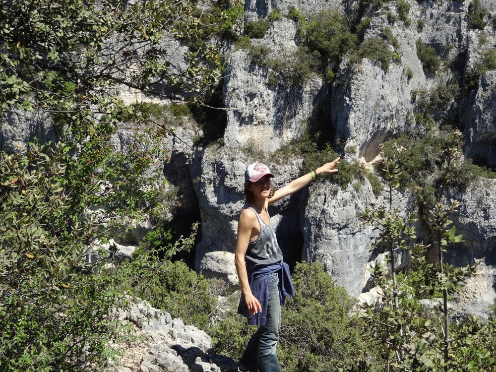 randonneuse luberon tour gorges d'Oppedette
