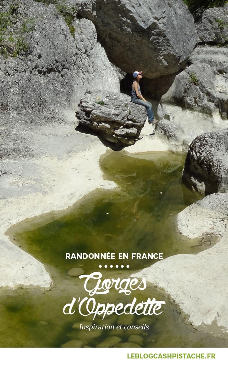 rando en France Luberon Gorges d'Oppedette
