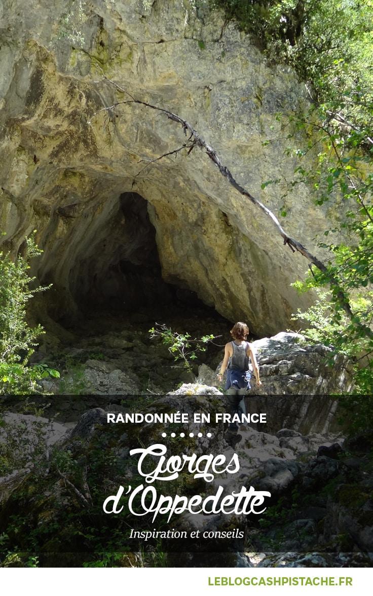 randonnée dans le Sud du Luberon Gorges d'Oppedette