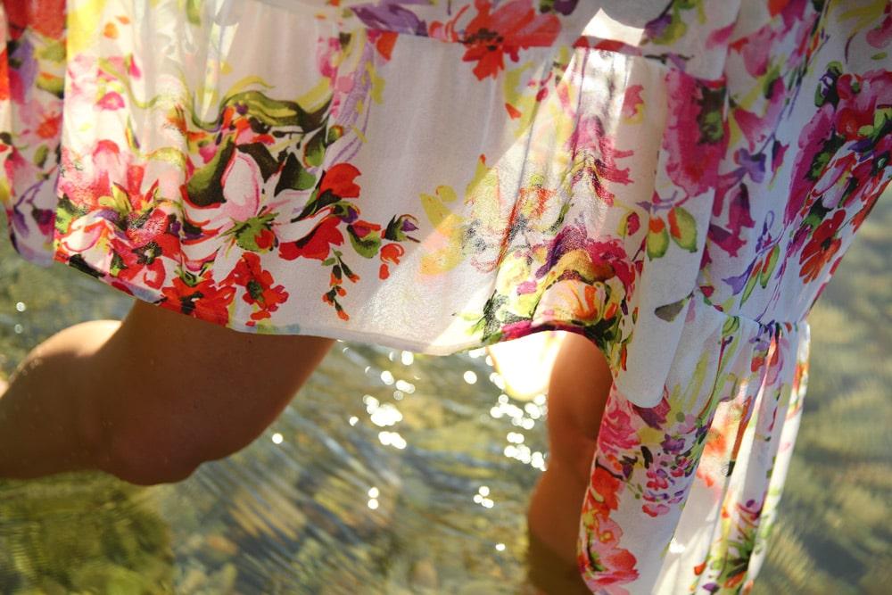 motif robe fleurie coachella