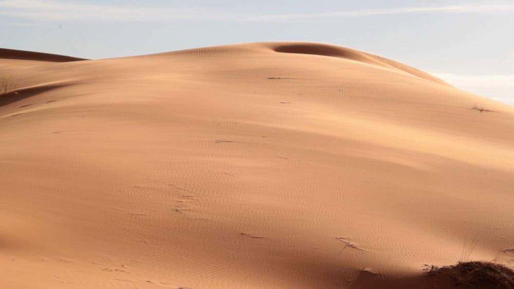 paysage de désert dunes de Merzouga trekking