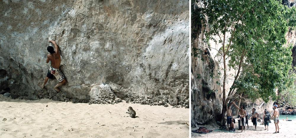 railay beach thailande escalade climb